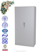 two full door steel swing door filing cabinet with aluminium alloy handle, camlock