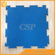 non-toxic gym rubber floor mat/ cheap interlocking sports flooring /interlock rubber mats for gym