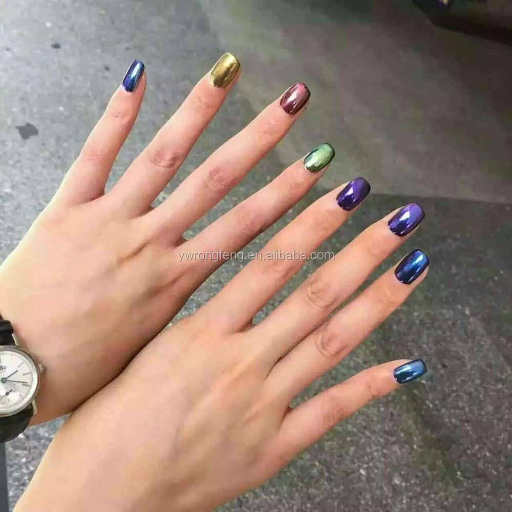Nail Chrome Pigment Powder/magic Metallic Mirror Chrome Pigment ...