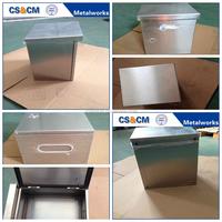 Waterproof IP65 stainless steel storage lock box with lid