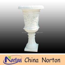 decorative flower pattern garden decoration stone flower pot NTMF- F113S