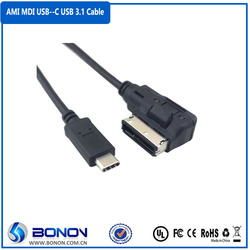 2015 Media In AMI MDI USB-C USB 3.1 Type C Charge Adapter Cable For Car VW AUDI 2014 A4 A6 Q5 Q7 & for New Macbook & Chromebook