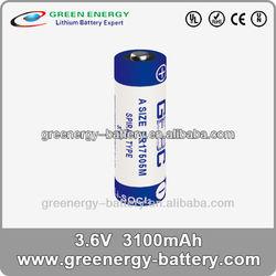 3.6v MP3 MP4 ER17505M batteries cell 3100mah battery MP3 player power tool