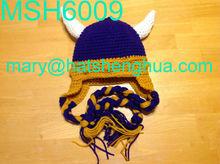 MSH6009 crochet viking hat with braid
