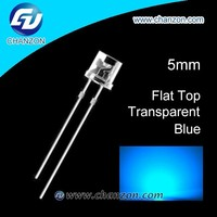 BOTTOM PRICE HOT SALE Through hole Flat top 5mm Led diode BLUE