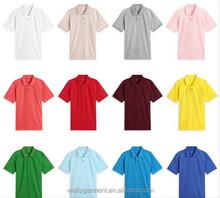 2015 Wholesale 100% cotton Men's Polo t shirt, couple Polo shirt design