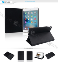 2015 factory design leather case for ipad mini 4,folio stand case for ipad mini,trendy design and best selling