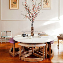 Italy style dining room table tops, white marble table tops
