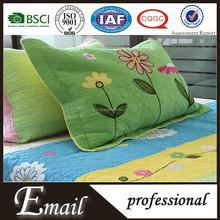 Applique work bed sheet/ colorful floral cotton printed bedding set