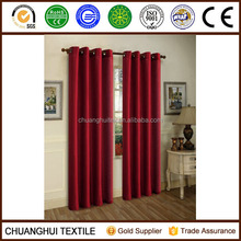 2 PANELS SILK BLACKOUT THERMAL GROMMET FOAM LINED WINDOW CURTAIN DRAPES BURGUNDY
