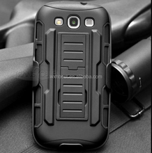 Hot Selling 3 in 1 Armor Belt Clip Case for Samsung Galaxy S3 I9300 With Holder Design
