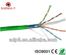 FTP cat6 24awg 0.5mm ccau/ccam/bare copper cable