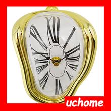 UCHOME Roman Numeral Novelty Distorted Retro Timepiece Melting Quartz Irregular Alarm Clock