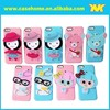 cute cartoon silicon back case for iphone 5/5s