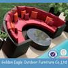 General rattan material outdoor rattan round sofa set