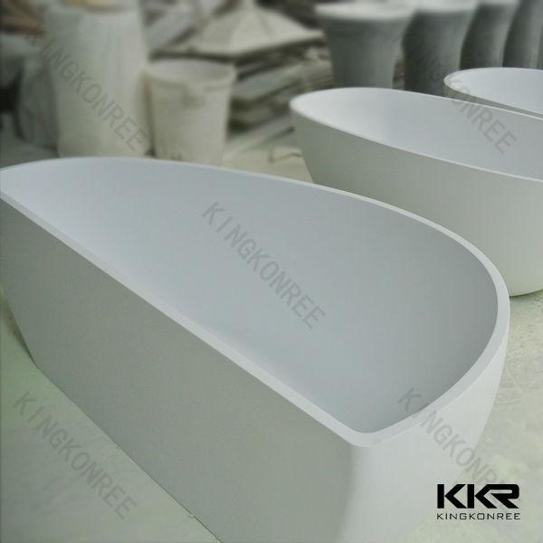 Blanc longue autoportante baignoire 150 cm baignoire for Baignoire sur pied 150 cm