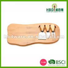 2015 High quality bamboo cheese board,cheese board with knife,cheese board set wholesale