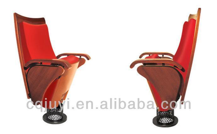 JY-901Commercial Dimensões Cadeira Dobrável De Madeira Moderna Para A Sede Da Igreja Cinema Usado cadeira do Teatro Cadeira do Auditório