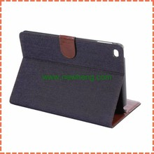 Jeans flip leather case for iPad mini 4, Stand credit card case for iPad mini 4