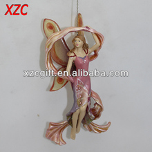 Polyresin Angel Fairy With Hanging Decoration