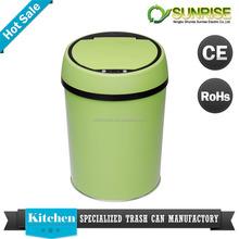 color coded garbage bins