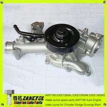 AW7168;53021380AL;53021380AK;53021380AG Water pump spare parts AW7168 Auto Engine water pump for Chrysler Dodge Durango Ram
