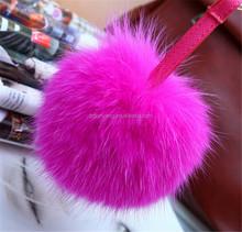 fox tail/Raccoon Fur Pom Poms Hat/raccoon fur ball for hat