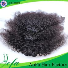 Unprocessed afro kinky curly brazilian braiding virgin hair