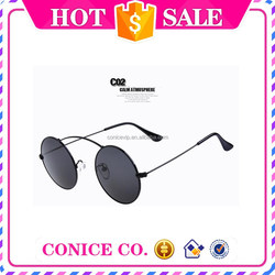 2015 new fashion round metal cool colorful wholesale cheap women sunglasses china