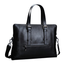 FEGER New Leather Business Men Conference Bag Bolsa Masculina Documents Holder Bag