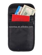 Travel Neck Passport Holder Pouch Stash Hidden Wallet Organizer With Strap