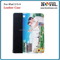 New Sublimation Flip Leather Case for iPad 2,3,4, 2015 Fashionable Leather Wallet for DIY Printing