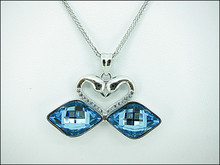 Twins Swan design 925 Sterling Silver Crystal from SWAROVSKI Pendants & charms