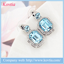 Fashion jewelry earring blue sapphire earring findings 316l stainless steel medical earring stud