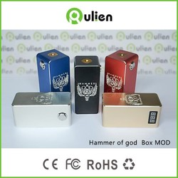 2015 New style large stock Mechanical Mod hammer of god box mod clone