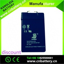 4v sealed rechargeable LED usage lead acid battery not dry battery