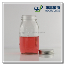New design square custom mason jar with lid wholesale 900ml 30oz large capacity wide mouth