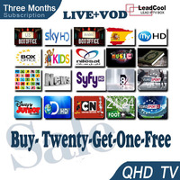3 Months Qhdtv Iptv Accout Over 600 Channels For Android Tv Box Smart Tv Box beIN sports Canal Plus Nilesat No Hd Sex Pron