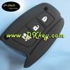 Colorful 3 button rubber silicon key cover for hyundai IX45 key hyundai silicone case key car