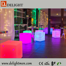 ice cube led/ led glowing chair/ small plastic cubes