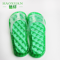 PVC bathroom massage slippers plastic anti-slip sandal