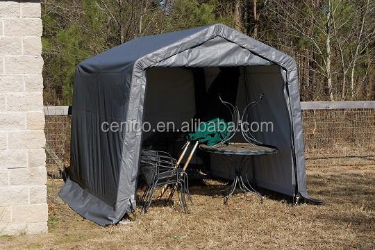Backyard storage shed portable motocycle shelter car for Portable outside storage sheds