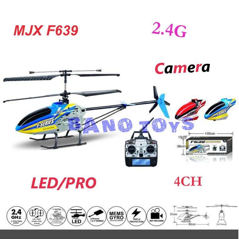 Mjx f639 f39 2.4g 4 canali elicottero rc