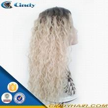 Beautiful brazilian remy virgin long human hair grey lace front wig hair extensions & wigs