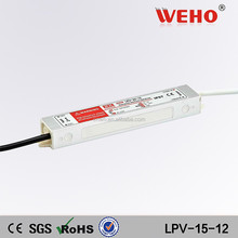 high efficiency 15w waterproof 12v switching power adapter LED driver