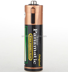 Panamatic shrink wrap R6 SIZE AA UM3 1.5V Battery (black)for toy