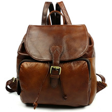 New trend product women leather backpack high school backpack