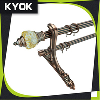 KYOK Curtain Poles in Foshan Wholesale, colorful and beautiful Curtain Hooks, high-grade resin curtain rod finials