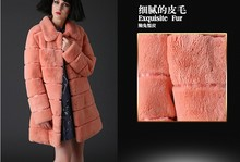 Fox Fur Coat with Rabbit Skin Leather with high Price
