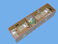 Prefabricated container houses cheap 40ft portable offices prices with modern design